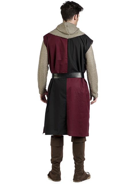 Keskiaikainen ritari Edward -asu miehille