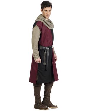 Costum de cavaler medieval Eduardo pentru bărbat