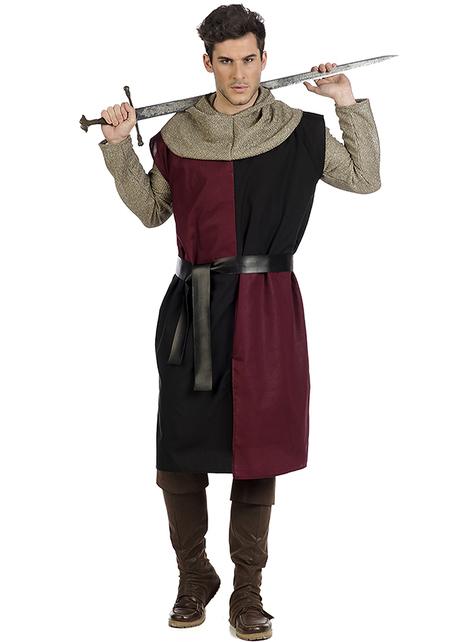 Disfraz de caballero medieval Eduardo para hombre