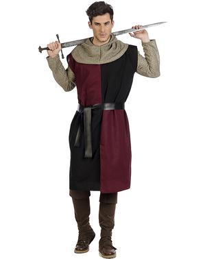 Fato de cavaleiro medieval Eduardo para homem