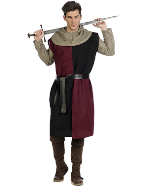 Middelalder Edward ridder kostyme til menn