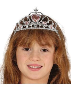Korona srebrna księżniczka dla dziewczynki