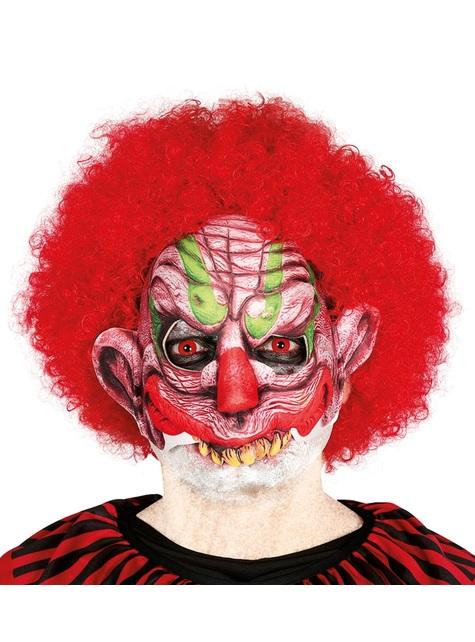 Meia-Máscara de palhaço aterrador para adulto