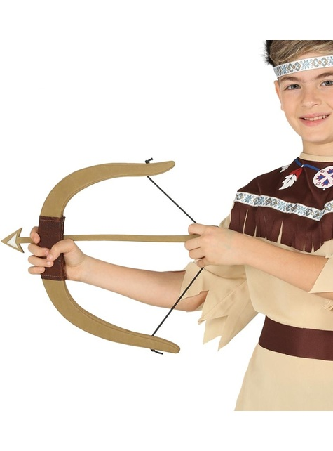 Arco con 3 frecce indiano per bambini