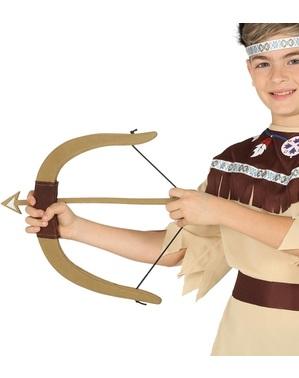 Łuk z trzema strzałami indiański dla dzieci
