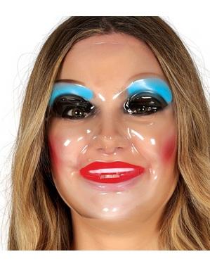 Gennemsigtig kvinde maske