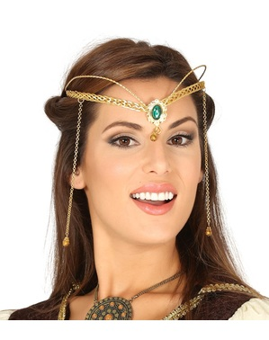 Gold metal medieval headpiece