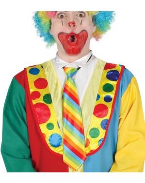 Duhová klaunská kravata pro dospělé