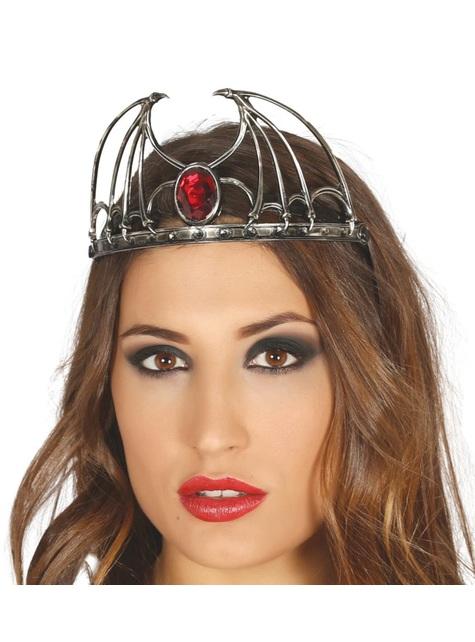 Corona con rubí para mujer