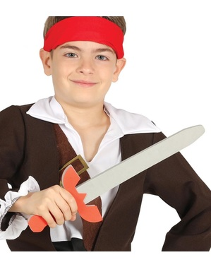 Spada pirata in gomma EVA per bambini 53 cm