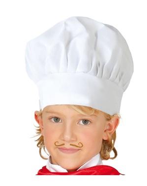 Chapéu de cozinheiro profissional infantil