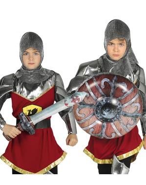 Set de escudo y espada medieval hinchables