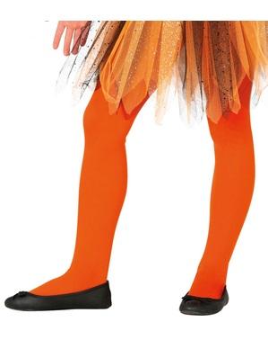 Kinderen oranje panty