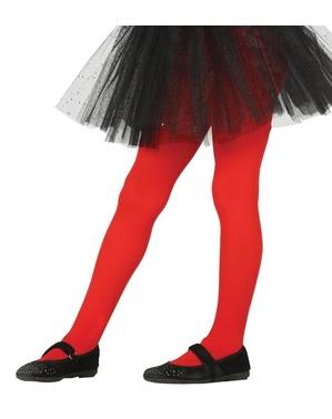 Детски червени чорапогащи