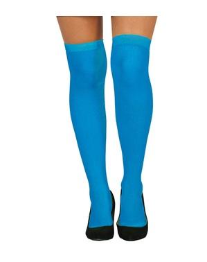 Blå tights for dame