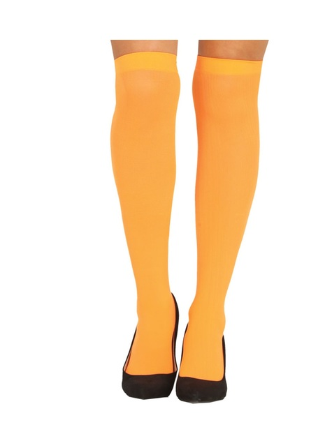 Bas orange femme
