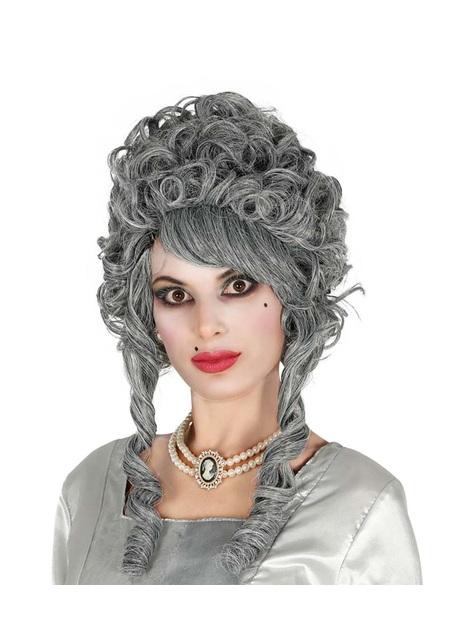 Peluca barroca gris para mujer