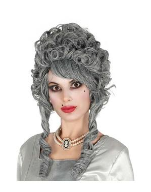 Peruca barroca cinzenta para mulher