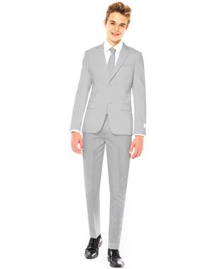 Grauer Anzug für Jungen - Opposuits