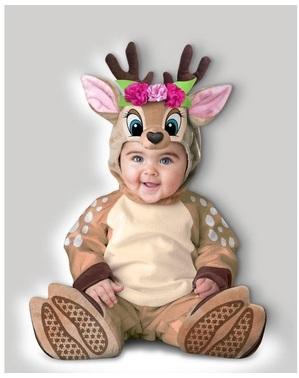 Fato de rena para bebé menina