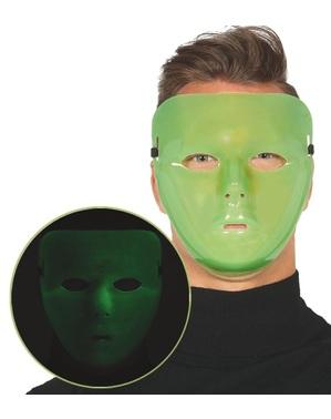 Maschera da assassino florescente per adulto