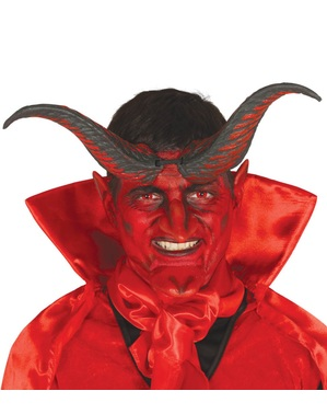 Black and red devil horns for adults