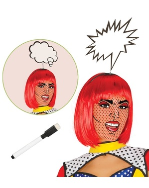 Pop art speech bubble headpiece