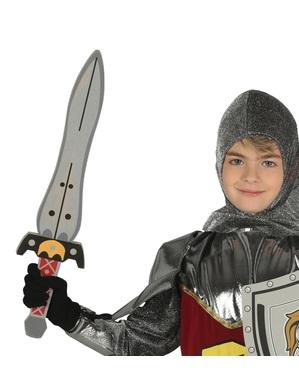 Épée médiévale en mousse EVA 70 cm enfant