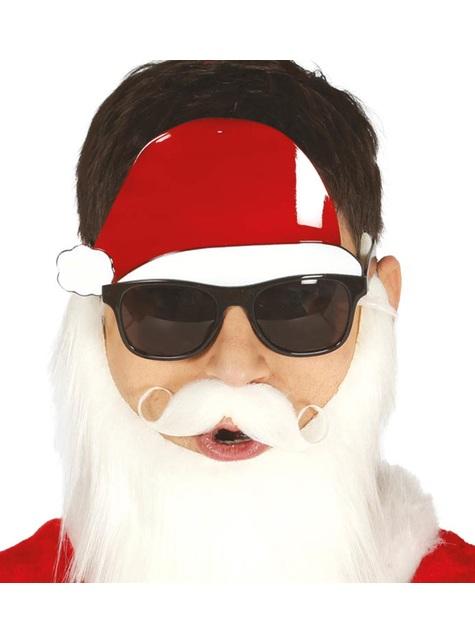 Gafas oscuras con gorro de Papá Noel