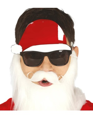 Santa Claus glasses and hat