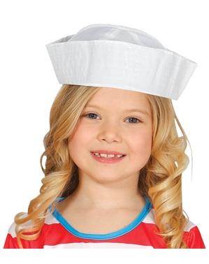 Gorro de marinheiro branco infantil