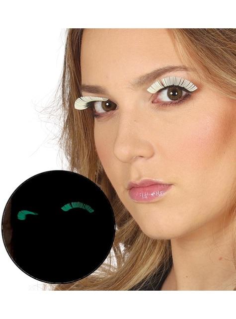 Fluorescent eyelashes for women