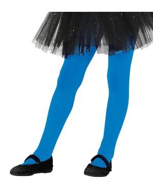 Blå tights for barn