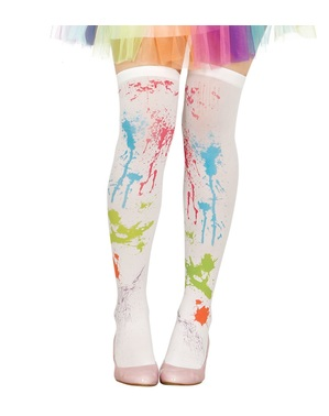 White socks with paint for women