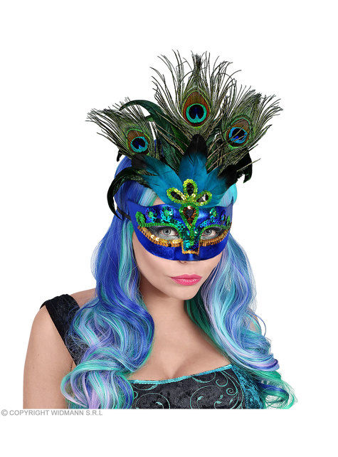 Venetian peacock eye mask for adults