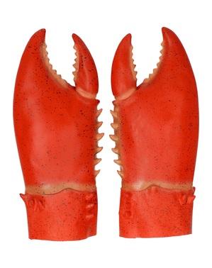 Sett med 2 krabbe klør til voksne