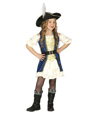 Момичешки пиратски луксозен костюм