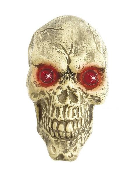 Tête de mort décorative taille réelle yeux LED