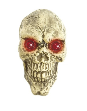 Decorative skull with eyes with LED
