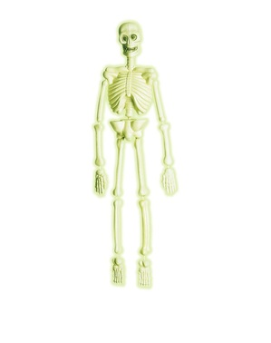 Glow in the dark 3D laboratorium skelet