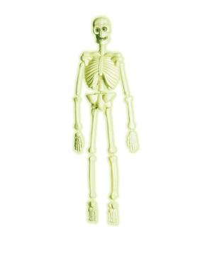 Självlysande laboratorie skelett i 3D