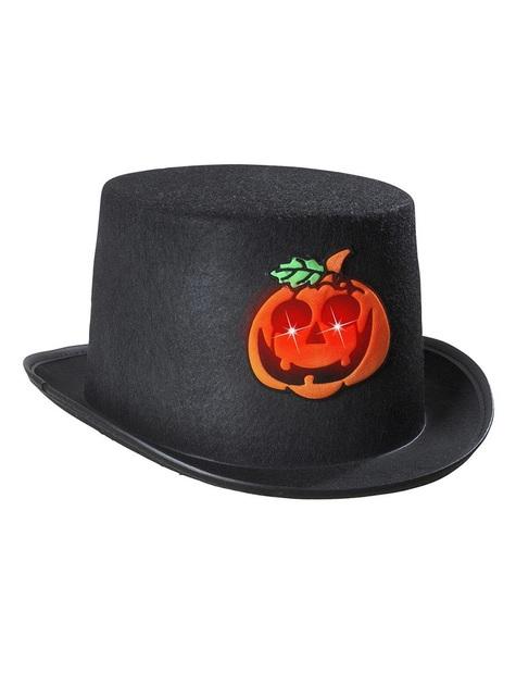 Sombrero de copa halloween calabaza intermitente
