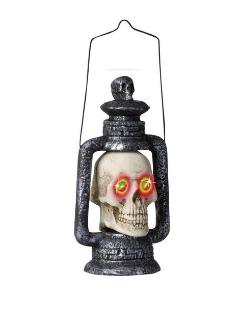 Lampion tête de mort yeux de couleurs