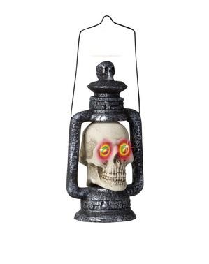 Lampa ve tvaru lebky s proměnlivýma očima