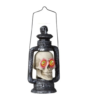 Oil lamp skull with eyes changing color