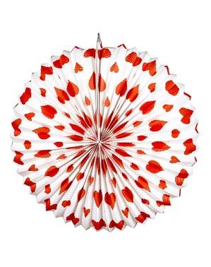 Valentýnský lampion srdíčka