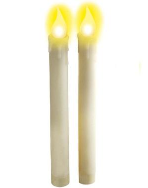 Vita ljus med ledbelysning