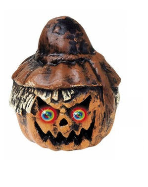 Scarecrow Pumpkin with Coloured Eyes