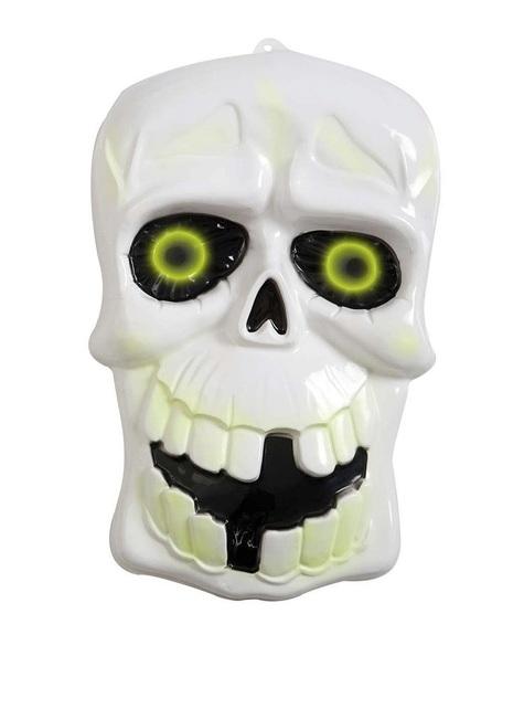Calavera 3D con ojos fluorescentes
