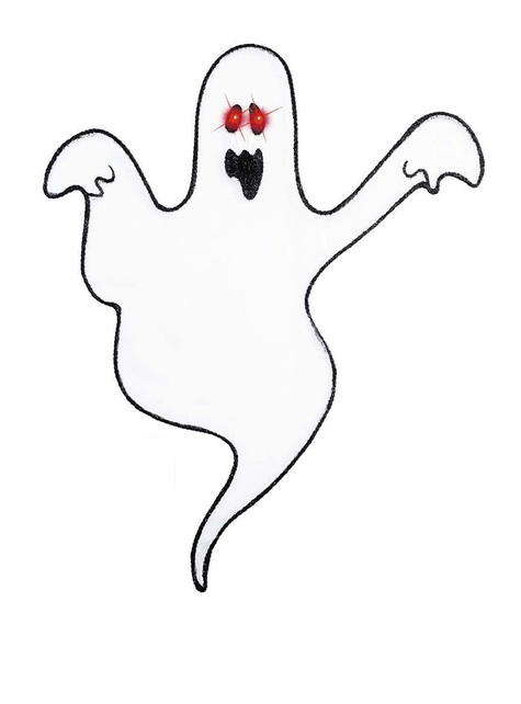 Decorative Ghost with Light-up Eyes